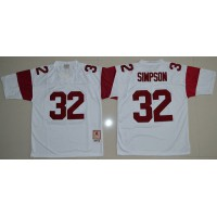 04d6880002a Trojans #32 O.J. Simpson White Stitched NCAA Jersey