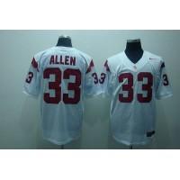 Trojans #33 Marcus Allen White Stitched NCAA Jersey