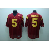 Trojans #5 Reggie Bush Red Stitched NCAA Jersey