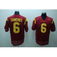 Trojans #6 Mark Sanchez Red Stitched NCAA Jersey