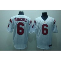 Trojans #6 Mark Sanchez White Stitched NCAA Jersey