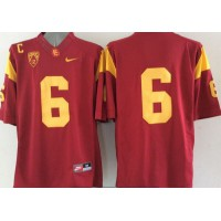 Trojans #6 Red Limited Stitched NCAA Jersey