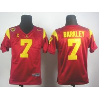 Trojans #7 Matt Barkley Red PAC-12 C Patch Stitched Youth NCAA Jersey