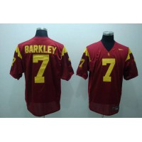 Trojans #7 Matt Barkley Red Stitched NCAA Jersey