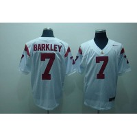 Trojans #7 Matt Barkley White Stitched NCAA Jersey