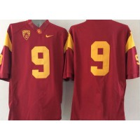 Trojans #9 Marqise Lee Red PAC-12 C Patch Stitched NCAA Jersey