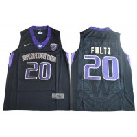 UConn Huskies #20 Markelle Fultz Black Basketball Stitched NCAA Jersey