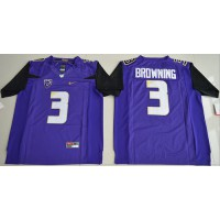UConn Huskies #3 Jake Browning Purple Limited Stitched NCAA Jersey
