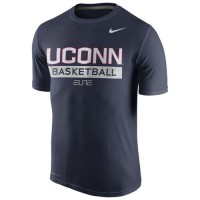 UConn Huskies Nike Basketball Practice Performance T-Shirt Navy