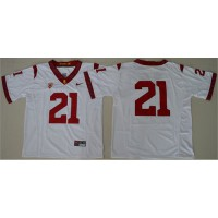 USC Trojans #21 Adoree' Jackson White PAC-12 C Patch Stitched NCAA Jersey