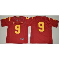 USC Trojans #9 JuJu Smith-Schuster Red PAC-12 C Patch Stitched NCAA Jersey