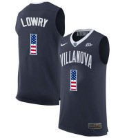 Villanova Wildcats #1 Kyle Lowry Navy College Basketball Jersey