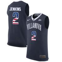 Villanova Wildcats #2 Kris Jenkins Navy College Basketball Jersey