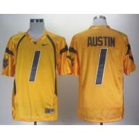 Virginia Mountaineers #1 Tavon Austin Gold Stitched NCAA Jersey