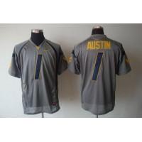 Virginia Mountaineers #1 Tavon Austin Grey Stitched NCAA Jersey