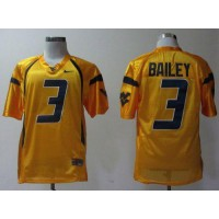 Virginia Mountaineers #3 Stedman Bailey Gold Stitched NCAA Jersey
