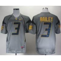 Virginia Mountaineers #3 Stedman Bailey Grey Stitched NCAA Jersey