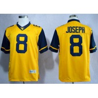 Virginia Mountaineers #8 Karl Joseph Gold Limited Stitched NCAA Jersey