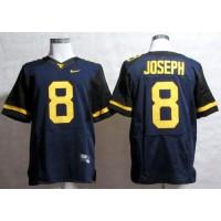 Virginia Mountaineers #8 Karl Joseph Navy Blue Stitched NCAA Jersey