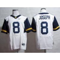 Virginia Mountaineers #8 Karl Joseph White Stitched NCAA Jersey