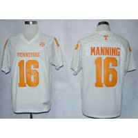 Vols #16 Peyton Manning White New Stitched NCAA Jersey