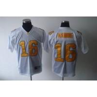 Vols #16 Peyton Manning White Stitched NCAA Jersey