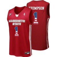 Washington State Cougars #1 Klay Thompson Red College Basketball Jersey