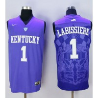Wildcats #1 Skal Labissiere Blue Basketball Stitched NCAA Jersey