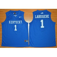 Wildcats #1 Skal Labissiere Royal Blue Basketball Stitched NCAA Jersey