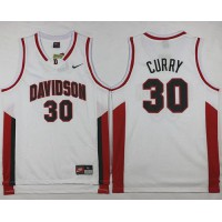 Wildcats #30 Stephen Curry White Basketball Stitched NCAA Jersey