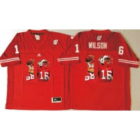 Wisconsin Badgers #16 Russell Wilson Red Player Fashion Stitched NCAA Jersey