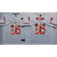 Wisconsin Badgers #16 Russell Wilson White Player Fashion Stitched NCAA Jersey