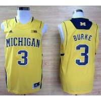 Wolverines #3 Trey Burke Gold Basketball Stitched NCAA Jersey