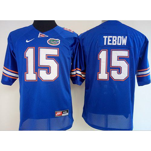9f647992b Women s Florida Gators  15 Tim Tebow Blue Stitched NCAA Jersey