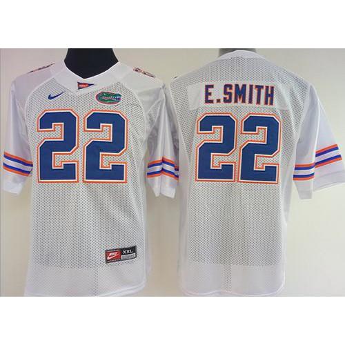 super popular a6e21 54771 Women's Florida Gators #22 Emmitt Smith White Stitched NCAA ...