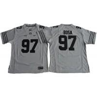 Women's Ohio State Buckeyes #97 Joey Bosa Gridion Grey II Stitched NCAA Jersey