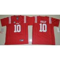 Youth Durable Rebels #10 Chad Kelly Red Stitched NCAA Jersey