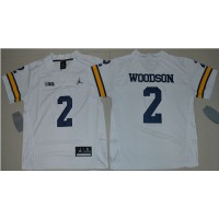 Youth Michigan Wolverines #2 Charles Woodson White Jordan Brand Stitched NCAA Jersey