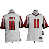 2012 Nike NFL Atlanta Falcons 11 Julio Jones White Jerseys (Game)