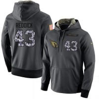 NFL Men's Nike Arizona Cardinals #43 Haason Reddick Stitched Black Anthracite Salute to Service Player Performance Hoodie