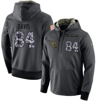 NFL Men's Nike Tennessee Titans #84 Corey Davis Stitched Black Anthracite Salute to Service Player Performance Hoodie