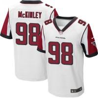 Nike Atlanta Falcons #98 Takkarist McKinley White Men's Stitched NFL Elite Jersey