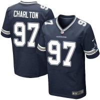 Nike Dallas Cowboys #97 Taco Charlton Navy Blue Team Color Men's Stitched NFL Elite Jersey