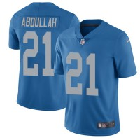 Nike Detroit Lions #21 Ameer Abdullah Blue Throwback Men's Stitched NFL Limited Jersey