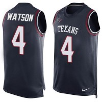Nike Houston Texans #4 Deshaun Watson Navy Blue Team Color Men's Stitched NFL Limited Tank Top Jersey