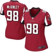 Women's Nike Atlanta Falcons #98 Takkarist McKinley Red Team Color Stitched NFL Elite Jersey