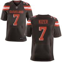 Nike Cleveland Browns #7 DeShone Kizer Brown Team Color Men's Stitched NFL New Elite Jersey