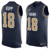 Nike Los Angeles Rams #18 Cooper Kupp Navy Blue Team Color Men's Stitched NFL Limited Tank Top Jersey