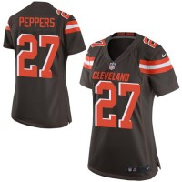 Women's Nike Cleveland Browns #27 Jabrill Peppers Brown Team Color Stitched NFL New Elite Jersey