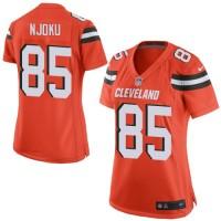 Women's Nike Cleveland Browns #85 David Njoku Orange Alternate Stitched NFL New Elite Jersey